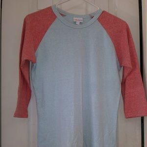 Lularoe Randy colorblock baseball tee